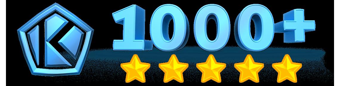 У нас более 1000 отзывов довольных клиентов!